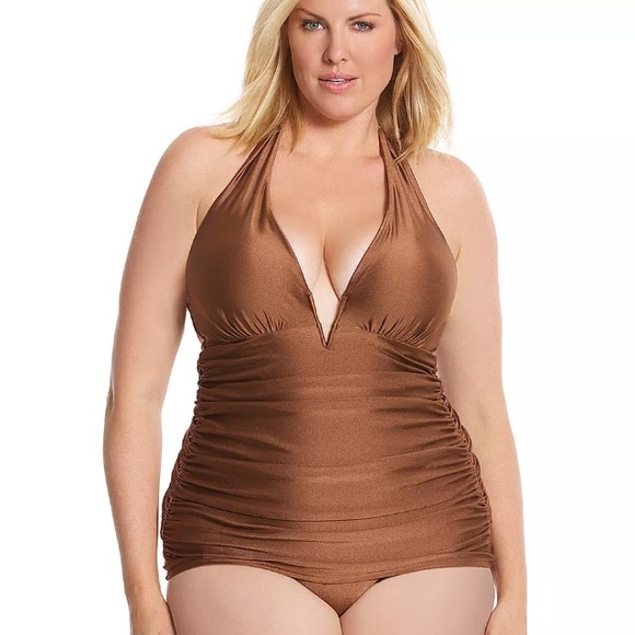 216e3754a6a Lane Bryant Other - Lane Bryant Maillot One-Piece UW Halter Swimsuit